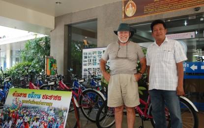 เทศบาลนครตรัง รณรงค์ปั่นจักรยานเพื่อสุขภาพลดโลกร้อน ให้บริการยืมจักรยานฟรี