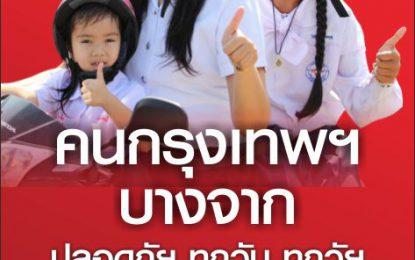 ขอชื่นชม คนบางจาก – กรุงเทพฯ (ร่วมเปลี่ยนแปลงประเทศไทย) สวมหมวกนิรภัย100% ทั้งคนขับและคนซ้อนท้าย