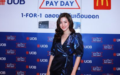 """"""" Happy Pay Day Dec 2019:McDonald """"s มอบเอกสิทธิ์ เฉพาะลูกค้าผู้ถือบัตรเครดิต """" ยูโอบี """" ที่ร่วมกิจกรรม Exclusive Meet & Greet  กับนางเอกสาวสวย ใบเฟิร์น พิมพ์ชนก ลือวิเศษไพบูลย์ ณ.ร้าน Mcdonald""""s ชั้น G สยามพารากอน"""