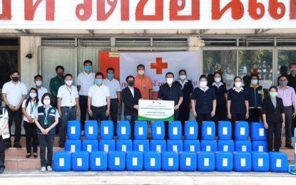 จังหวัดขอนแก่น รับมอบผลิตภัณฑ์ทำความสะอาด จำนวน 1,000 ลิตร จากบริษัทไทยเบฟเวอเรจ จำกัด (มหาชน) เพื่อส่งมอบให้กับโรงพยาบาลในจังหวัดขอนแก่น