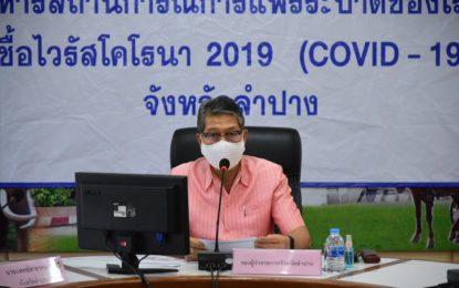 จังหวัดลำปาง ประชุมศูนย์อำนวยการเฝ้าระวังติดตามสถานการณ์โรคติดเชื้อไวรัสโคโรนา 2019 (โควิด-19)
