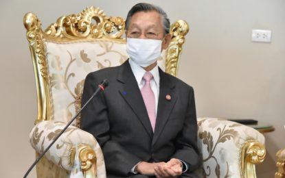 นายชวน หลีกภัย ประธานรัฐสภาและประธานสภาผู้แทนราษฎร ให้การรับรองนายทาฮาโมอานา ไอเซอา คลูนี แมกเฟอร์ซัน เอกอัครราชทูตนิวซีแลนด์ ประจำประเทศไทยในโอกาสเข้าแนะนำตัวในฐานะ เอกอัครราชทูตฯ และเพื่อกระชับความสัมพันธ์ระหว่างรัฐสภาไทย และนิวซีแลนด์ให้แน่นแฟ้นมากยิ่งขึ้น