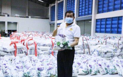 """""""จัดเต็ม ช่วยชาวบ้านสู้ภัยโควิดฯ""""       นิพนธ์ฯ จัดปลากระป๋อง 500,000 กระป๋อง / ข้าวสาร(5 kg.) 5 หมื่นถุงเตรียมกระจายให้ปชช. 5 จ.ชายแดนใต้"""