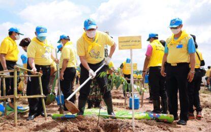 จังหวัดขอนแก่น จัดกิจกรรมจิตอาสาพัฒนา ปลูกป่า ปลูกต้นไม้ เพิ่มพื้นที่สีเขียว เนื่องในโอกาสวันเฉลิมพระชนมพรรษา สมเด็จพระนางเจ้าฯพระบรมราชินี 3 มิถุนายน 2563