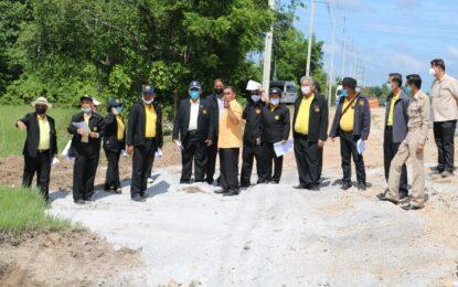 ผู้ตรวจราชการสำนักนายกรัฐมนตรีติดตามสอดส่องโครงการการพัฒนาโครงสร้างพื้นฐานพื้นที่จังหวัดสระบุรี