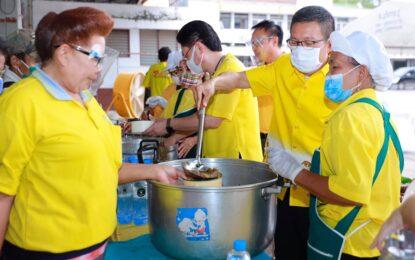 จังหวัดขอนแก่น เปิดครัวกลางชุมชนไม่ทิ้งกัน แบ่งปันอาหาร-รอยยิ้ม