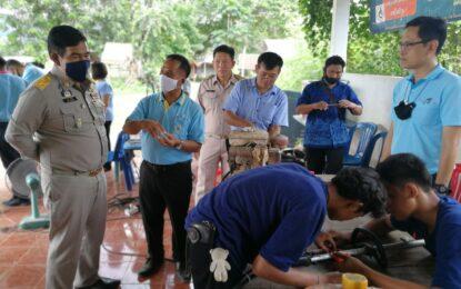 สำนักงานพัฒนาฝีมือแรงาน ออกบริการประชาชนพื้นที่อำเภอวังชิ้น