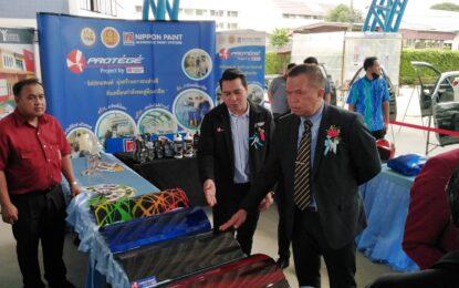 บริษัทนิปปอนเพนต์ ให้การสนับสนุนผลิตภัณฑ์การเรียนสีให้กับวิทยาลัยเทคนิคนครศรีธรรมราช มูล130000บาท