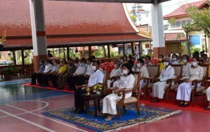 พุทธศาสนิกชนจังหวัดปัตตานี ร่วมพิธีเจริญพระพุทธมนต์ เพื่อความเป็นสิริมงคลให้กับแผ่นดินและปวงชนชาวไทยทุกหมู่เหล่า