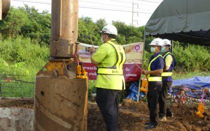 พิธีลงเสาเข็มต้นแรกโครงการรถไฟฟ้าความเร็วสูงไทย-จีน สัญญาที่ 4-7 งานโยธาสำหรับช่วงสระบุรี-แก่งคอย