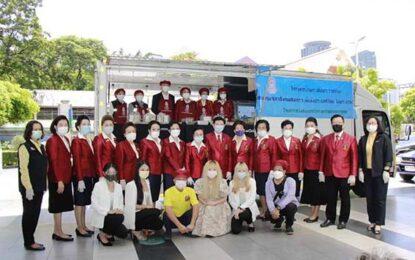 สมาคมสภาสังคมสงเคราะห์แห่งประเทศไทยฯ  ร่วมกับกระทรวงการพัฒนาสังคมและความมั่นคงของมนุษย์  และศูนย์การค้าเซ็นทรัลเวิลด์ จัดพิธีเปิดโรงครัวจิตอาสา