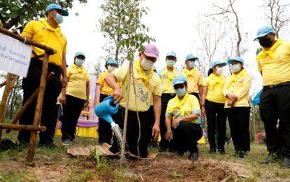 จังหวัดขอนแก่น จัดกิจกรรม    ปลูกต้นไม้ตามแผนปฏิบัติการเพิ่มพื้นที่สีเขียว 3 ปี 2 ล้านต้น