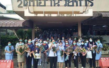 โรงพยาบาลกระบี่ ส่งนักรบชุดขาว ไปปฏิบัติภารกิจดูแลผู้ป่วยโควิด-19 รพ.สนามบุษราคัม เมืองทองธานี จำนวน 7 คน