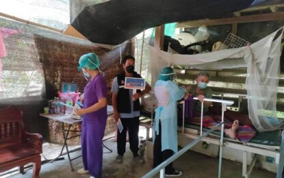 สสอ.กะเปอร์ ลงพื้นที่ให้บริการฉีดวัคซีนพระราชทานซิโนฟาร์ม กลุ่มเป้าหมายผู้ป่วยในมูลนิธิ พอ.สว.