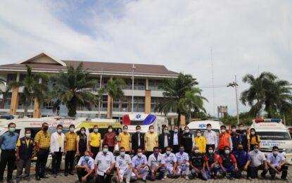 """รมช. มหาดไทย ลงพื้นที่มอบนโยบายและเปิดโครงการความปลอดภัยทางถนน """"สงขลาเมืองต้นแบบ"""" พัฒนากลไกจัดการความปลอดภัยทางถนนจากจังหวัดสู่อำเภอและตำบล เพื่อสร้างความปลอดภัยร่วมกันในทุกระดับ และลดการสูญเสียจากอุบัติเหตุทางถนนให้เป็นรูปธรรม"""